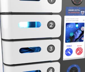 UV-C Lights in each locker